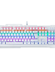 Gaming Keyboard Mechanical keyboard AULA F2008 Mixed backlight Green Axis 104key no conflict