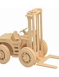 Puzzles Puzzles en bois Blocs de Construction Jouets DIY  Chariot Elévateur 1 Bois Ivoire