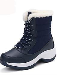 Черный Синий Красный Белый-Женский-Для прогулок Для офиса Повседневный-Ткань-На платформе-На платформе Теплая зимняя обувь-Ботинки