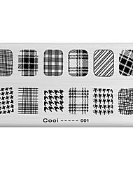 ongle art image de timbre plaque d'estampage modèle série fraîche