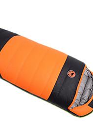 Sac de couchage Rectangulaire Simple 10 Duvet de canard 1000g 230X100 Camping Voyage IntérieurEtanche Résistant au vent Bonne ventilation