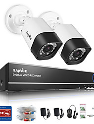 Sannce® 1.0mp 720p 4ch hd 4 in1 tvi h.264 dvr in / outdoor cctv Sicherheitskamera-System
