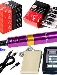 Solong Rotary Tattoo Machine Kit Digital Tattoo Power Supply Foot Pedal 50pcs Needles EM103KITB50-5