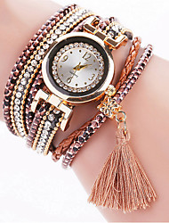 Brand Fashion Crystal Women Multilayer Tassel Wristwatches Leather Bracelet Watch Drop Shipping Relogio Feminino Clock