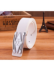 Unisex PU Buckle,Casual Alloy All Seasons