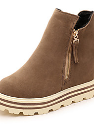 Women's Boots Winter Platform / Comfort Suede Increased Within Hin Thin Dress / Casual Platform Zipper
