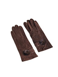(NOTE - C78 - K1 COFFEE) MS POINTS MEANS A FAUX SUEDE GRID SERGING SABLE HAIR BULB GLOVES