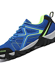 Masculino-Tênis-Conforto-Rasteiro-Azul Rosa Cinza Azul Real-Couro Ecológico-Casual Para Esporte