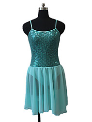 Ballet Dresses Women's / Children's Performance Chiffon Satin / Nylon / Sequined / Lycra Sequins 1 Piece Sleeveless Dress