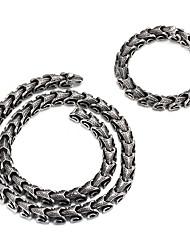 Бижутерия 1 ожерелье / 1 браслет Halloween / Для вечеринок / Повседневные 1 комплект Мужчины Серебряный Свадебные подарки