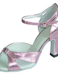Sapatos de Dança(Rosa) -Feminino-Personalizável-Latina / Jazz / Sapatos de Swing / Salsa