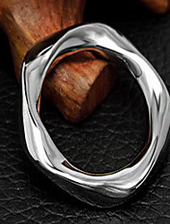 Ring Silver Circle Geometric Silver Jewelry For Party Daily 1pc