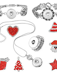 Jewelry 1 Necklace / 1 Bracelet / Rings / 1 Package / Halloween / Daily 1set Women Silver / Red Wedding Gifts