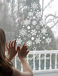 Wall Stickers Wall Decals Style New Christmas Snow PVC Wall Stickers