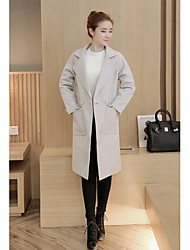 Sign pilling / not fade 2016 autumn and winter new Korean large lapel long sections woolen coat large