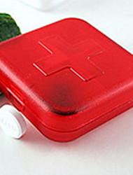boîte portative joint plastique kits d'ameublement créatifs de stockage de mode korean croix quatre cas