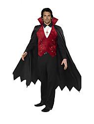 Costumes de Cosplay Forme Chauve-Souris Cosplay de Film Rouge Couleur Pleine Manteau / Haut / Châle Halloween / Carnaval Masculin