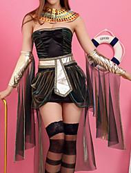 Fantasias de Cosplay Rainha Conto de Fadas Festival/Celebração Trajes da Noite das Bruxas Preto Miscelânea Vestido Mais AcessóriosNatal