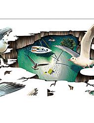 Animaux Stickers muraux Stickers muraux 3D Stickers muraux décoratifs,Vinyle Matériel Amovible Décoration d'intérieur Wall Decal