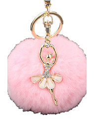 Key Chain Novelty Toy Toys Key Chain Sphere Plush Pink For Boys / For Girls