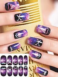 12 Styles/Set Nail Art Sticker Harajuku Star Light Style
