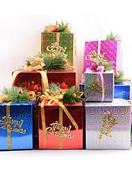 azar del color del ESTILO 5 unids bricolaje de dibujos animados de Navidad ao nuevo Caja de regalo caramelo lindo cajas de tomates secados