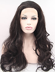 Synthetic Lace Front Wig Fashion Long Curly Fluffy Pear Head Before The Lace Crochet Cap Wig
