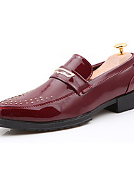 Men's Oxfords Spring Summer Fall Winter Comfort PU Casual Low Heel Others Black White Burgundy