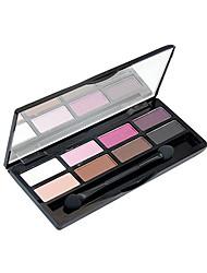 8 Paleta de Sombras Mate / Brilho Paleta da sombra Creme Normal Maquiagem para o Dia A Dia