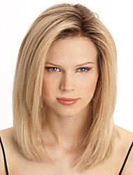 blonds capless couleur pleine chaleur perruque mode résistant aspect naturel