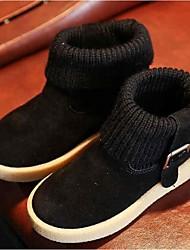 Girl's Boots Comfort Suede Casual Black / Brown / Red / Beige