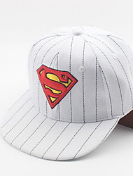 Stripe superman baseball cap Children's hat Color matching hat of hip hop Breathable / Comfortable  BaseballSports