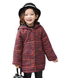 Girl Casual/Daily Plaid Suit & Blazer,Cotton Winter Long Sleeve