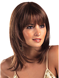 Natural Looking Daily Wearing Celebrity Amanda European and American Women Sexy Fashion Wave Synthetic Wig with Bang Heat Resistant