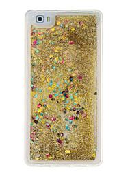 Para Liquido Flutuante Capinha Capa Traseira Capinha Brilho com Glitter Macia TPU para Huawei Huawei P9 Lite / Huawei P8 Lite