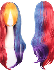 Colorful Mixed Fashion Lolita Cosplay Wig Heat Resistant Cheap High Quality