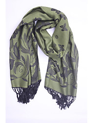 Women Cotton / Polyester ScarfVintage / Work / Casual RectangleJacquard