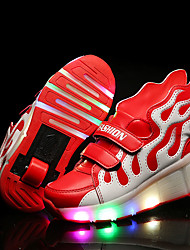 Kids Boy Girls Heely's Roller Shoes / Ultra-light Single Wheel Skating LED Light Shoes / Athletic / Casual LED Shoes with Wings
