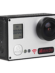 amkov7000S Sports Action Camera 20MP 4608 x 3456 WiFi / Waterproof / Adjustable / wireless / Wide Angle 30fps No ±2EV 2 CMOS 32 GB H.264