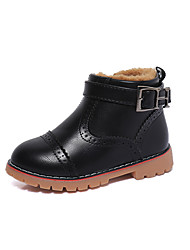 Boy's Boots Spring Fall Winter Others Leather Outdoor Casual Zipper Black Burgundy Khaki Others