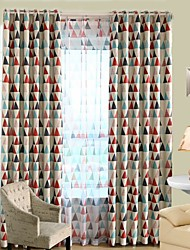 One Panel Curtain Country , Geometic Bedroom Polyester Material Blackout Curtains Drapes Home Decoration For Window