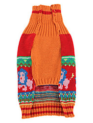 Dog Sweatshirt Red Dog Clothes Winter / Spring/Fall Animal Casual/Daily