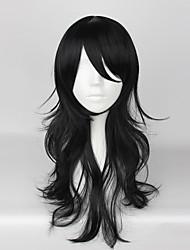 Косплэй парики Косплей Косплей Черный Средний Аниме/Видеоигры Косплэй парики 55 CM Термостойкое волокно унисекс