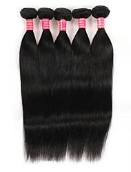 Lidské vlasy Vazby Brazilské vlasy Proste 6 měsíců 5 kusů Vazby na vlasy