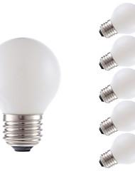 2W E26/E27 Ampoules à Filament LED G16.5 2 COB 150 lm Blanc Chaud Gradable V 6 pièces