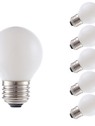 3.5 E26 LED лампы накаливания G16.5 4 COB 300 lm Тёплый белый Регулируемая AC 110-130 V 6 шт.