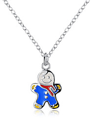 Women Unique Design Euramerican Christmas Gift Christmas Snowman Pendant Plated Dangling Style Necklace