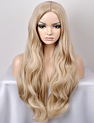 Europe and the United States Women's Fashionable New Year in The Sub-shallow Golden Wave High-temperature Wire Wig