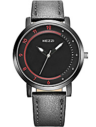 Men's Sport Watch Wrist watch Quartz / Leather Band Cool Casual Black Blue Green Khaki Brand