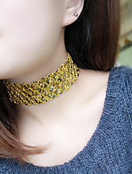 Women Fashion Personality Fish Scales Sequins Elastic Choker Necklace Halloween / Birthday / Party / Daily / Casual / Christmas Gifts